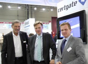 Certgate agreement – new sales partnership for Scandinavian market Helmut Friedel, Bjarke Alling, Stefan Schmidt-Egermann