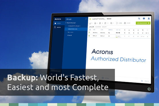 Acronis Backup. The fastest, easiest and most complete.