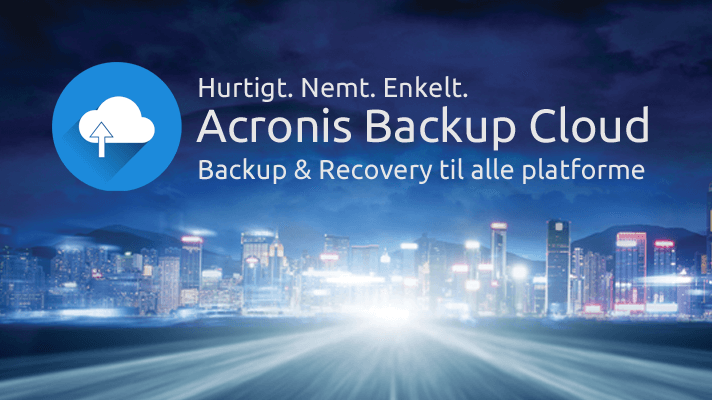 Acronis backup and recovery management system.