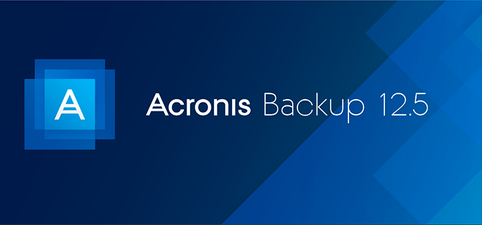 Acronis Backup 12.5 launch.