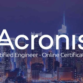 Acronis Certified Engineer Online Certification.