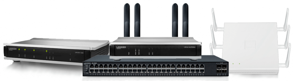 Hardware fra LANCOM Systems: Routere, Switches og Access Points.