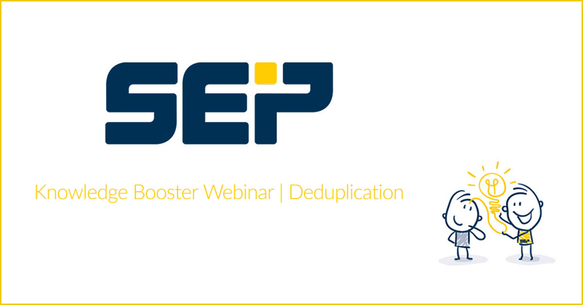 SEP Knowledge booster -Deduplication
