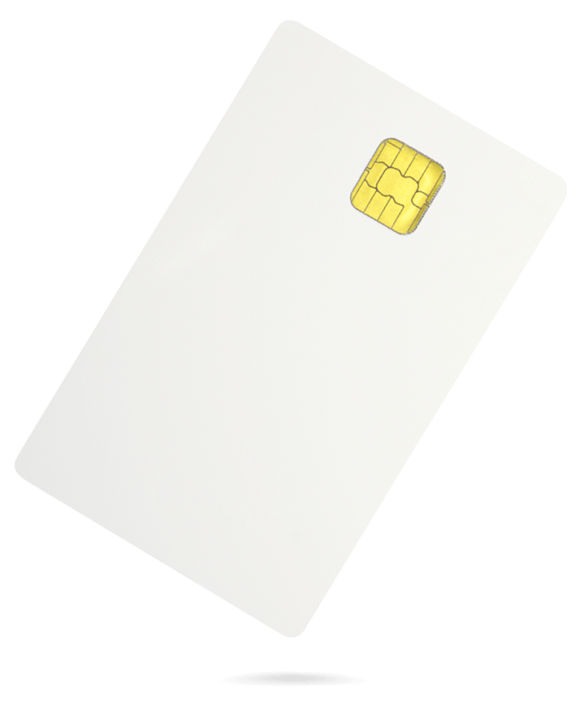 White chip card